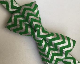 Green chevron bow tie. St Patricks day Bow tie