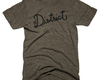 The District Script Shirt (Coffee) - Medium