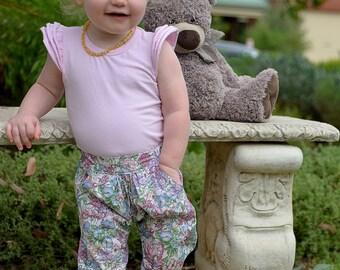 Girls Chillax pants size 0 flower fairy print