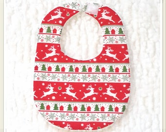 Bib with Christmas red/white/green baby - newborn (0-6 months)