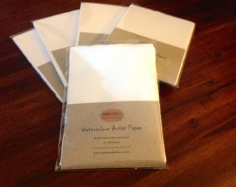 A5 size Artist paper: handmade & recycled paper ~250-300 GSM.