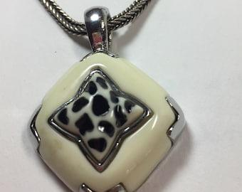 Vintage Necklace Earring Set Leopard Design Sterling Silver