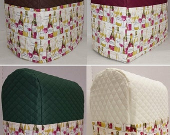Quilted Wine Bottles KitchenAid Stand Mixer Cover w/Pockets