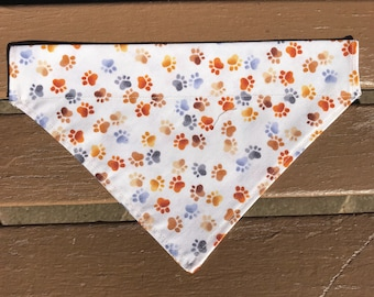 Paw Print Over-the-Collar Bandana