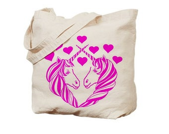 Unicorn Tote Bag reusable bags farmers market Christmas totes Indie Screen Printed Housewares holiday unicorns gifts Prints gift for brides