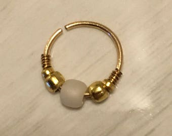 10mm 20g Gold Nose or Cartilage Ring (Continuous Ring, Peircing)