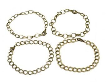 12 bracelets color Bronze 18/20 cm 4 different styles