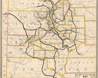 Poster, Many Sizes Available; Map Of Denver & Rio Grande Railroad Colorado 1881