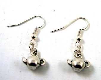 Teapot Earrings - Tea Pot Earrings - Cup of Tea Earrings