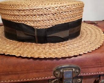 FREE  SHIPPING  1920  Straw  Hat