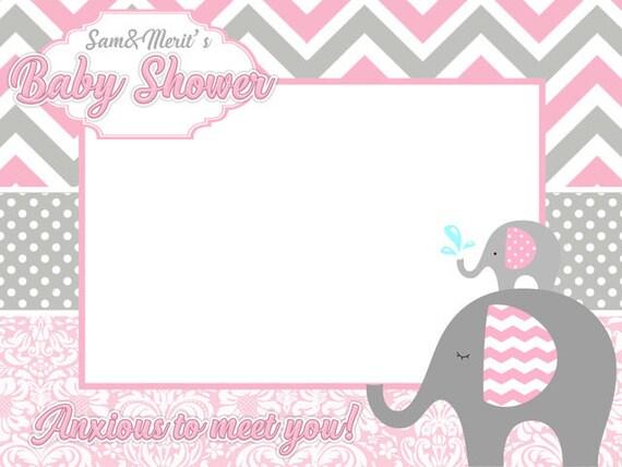 Delightful Elephants Baby Shower Frames Baby Shower Photo Booth Frame