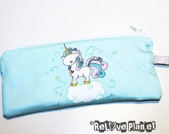 Unicorn Zipper Purse Pouch - Medium - Cosmetic Pencil Wallet - ReLove Plan.et