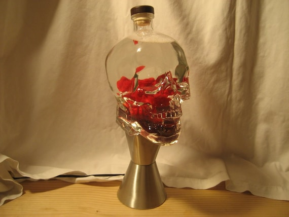 Wonderful Custom Lava Lamp Light 1.75 Liter Crystal Head Vodka Skull