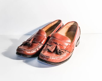 Cole Haan leather loafers 6.5B - Caramel Leather loafers -  Women's 6.5 loafers - Cole Haan 6.5 - Women's tassel loafers