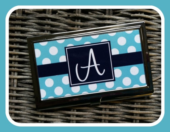 Custom Business Card Case, Personalized Business Card Case, Monogrammed Business Card Case, Personalized Gift
