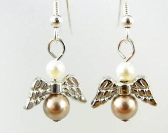 Earrings, guardian angel