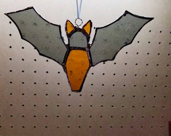Halloween Stained Glass Bat