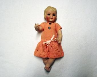 Antique Repro Doll, ca. 28 cm (69)
