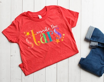 The Dreamer Collection Youth T-shirts - Rewrite The Stars Design