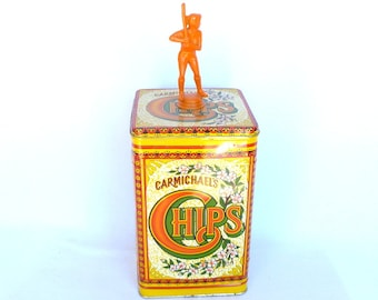 UPCYCLED TROPHY TIN/ Carmichael's Chips Tin