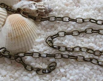 Antique Brass Oval Chain - 3 feet - 6mm x 4mm