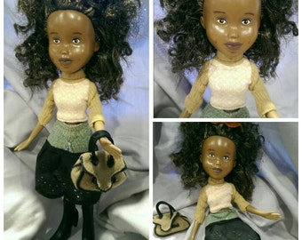 Leila Doll - Recycled Restyled Bratz Doll OOAK One of a kind - by Best Friend Dolls Store