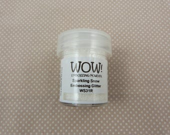 White glitter, embossing powder
