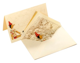 Pinocchio - Italian note cards with envelope in box