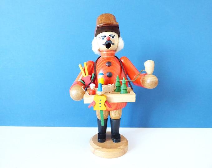 Erzgebirge Incense burner vintage wooden man