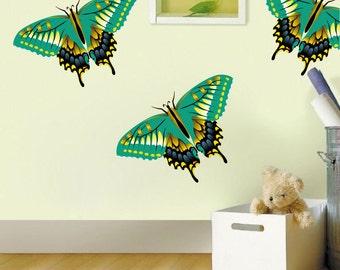 Butterfly Decals, Butterfly Wall Designs, Reusable Butterfly Decals, Removable Butterfly Wall Mural, Butterfly Stickers, Butterfly Art, n77