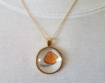 Fortune cookie, necklace