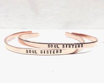 Soul Sisters Bracelet or Bracelets, Best Friend Bracelet or Bracelets