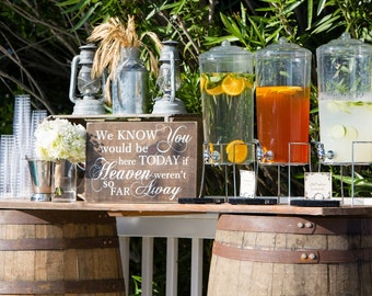 We Know You Would Be Here Today If Heaven Weren't So Far Away / Special Event or Wedding Memorial / Rustic Wood Sign / Wedding Sign (#1673)