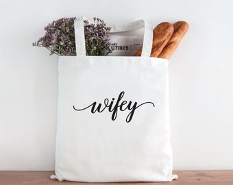 Wifey, Wifey Tote, Soon to be Mrs tote, mrs tote, bride, bride gift, wedding gift, wedding tote, Bridal shower gift, bachelorette gift