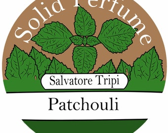 PATCHOULI Handmade Solid Perfume Organic 10gm Round Container by Salvatore Tripi - Italian Recipe