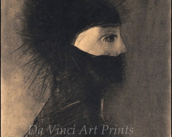 Fine Art Reproduction. L'armure - Armor, 1891 by Odilon Redon . Fine Art Print