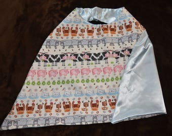 Barnyard Animals Reversible Cape, Small