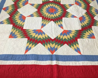 1930 Ring Around the Star Quilt
