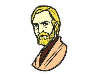 Obi Wan Applique Design - 5 SIZES