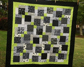 Price Reduced Black and White and Green - Oh my! SALE