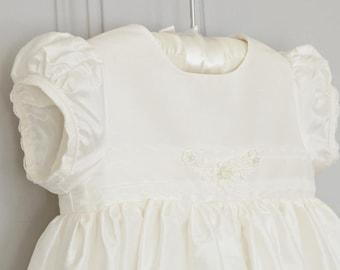 Clara Silk Christening Gown