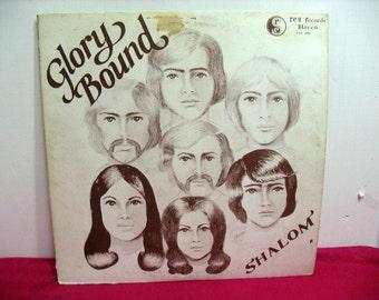 Glory Bound Shalom Vinyl LP, Xian Psych Rock, RCS Private Press Oregon Original Cover Art, Christian Record