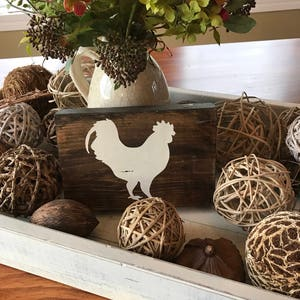 Bon Rooster Decor   Chicken Decor   Farm Animal Wood Sign   Rustic Home Decor    Rustic