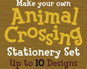 Custom Animal Crossing Stationery Notecard Pack - Up to 10 Designs
