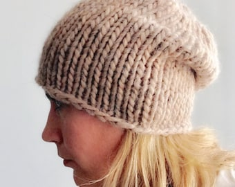 Chunky Knit Hat Chunky Hat Wool Hat Slouchy Hat Chunky Wool Hat Beanie Hat Women Knit Hat Women Hat Chunky Beanie Chunky Wool Beanie Hat Hat