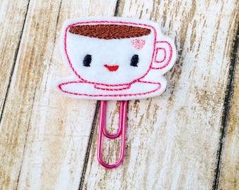 Adorable Kawaii Tea Cup Planner Clip