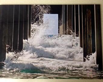 Pier Photography on metal - Scripps La Jolla, CA