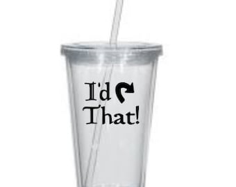 Magic: the Gathering I'd Tap That Acrylic Straw Cup