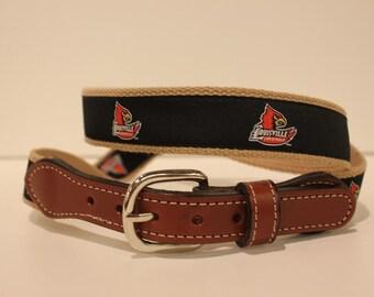 Louisville  Men's  Web Leather Belt