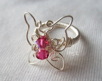 Wire Jewelry Tutorial: Butterfly Ring